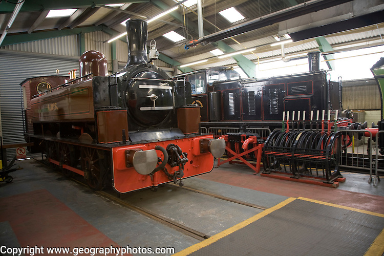 Historic steam engines at George Stephenson museum, North Shields, Northumberland, England