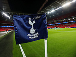 Tottenham's logo on the corner flag during the Champions League group match at Wembley Stadium, London. Picture date December 7th, 2016 Pic David Klein/Sportimage