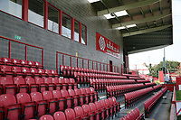 A section of the main stand at the Kuflink stadium before Ebbsfleet United vs Notts County, Vanarama National League Football at The Kuflink Stadium on 24th August 2019
