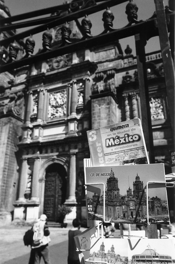 Post cards of the Cathedral in Mexico City's center. Mexico City