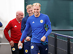 02.09.2019 Scotland u-21 training, Oriam, Edinburgh.<br /> Goalkeeper Robby McCrorie arrives for training with twin brother Ross ahead of the upcoming UEFA European Under-21 Championship Qualifier against San Marino this Thursday evening in Paisley.