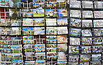 Display of picture postcards, Cambridge, England