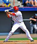 12 March 2011: Washington Nationals' infielder Ian Desmond in action during a Spring Training game against the New York Yankees at Space Coast Stadium in Viera, Florida. The Nationals edged out the Yankees 6-5 in Grapefruit League action. Mandatory Credit: Ed Wolfstein Photo