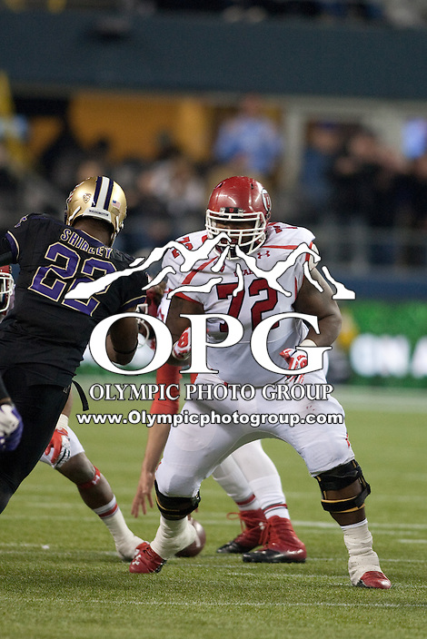 NOV 10, 2012:  Utah's Mike Mason against Washington.  Washington defeated Utah  34-15 at CenturyLink Field in Seattle, WA...