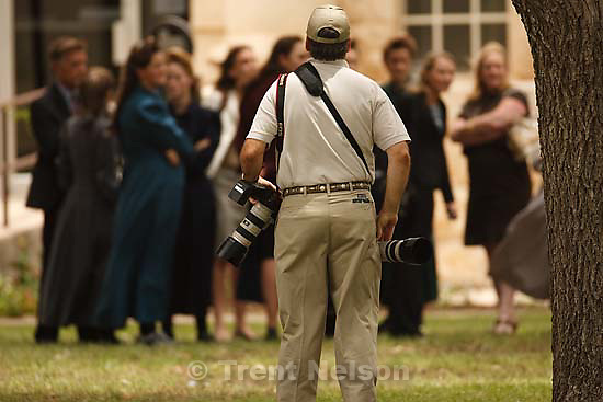 Eldorado - at the Schleicher County Courthouse Wednesday, June 25, 2008, where a grand jury met to hear evidence of possible crimes involving FLDS church members from the YFZ ranch. photographer
