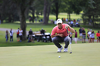 Rory McIlroy (NIR) on the 9th green during Saturday's Round 3 of the WGC Bridgestone Invitational 2017 held at Firestone Country Club, Akron, USA. 5th August 2017.<br /> Picture: Eoin Clarke | Golffile<br /> <br /> <br /> All photos usage must carry mandatory copyright credit (&copy; Golffile | Eoin Clarke)