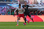 15.02.2020, Red Bull Arena, Leipzig, GER, 1.FBL, RB Leibzig vs SV Werder Bremen<br /> <br /> DFL REGULATIONS PROHIBIT ANY USE OF PHOTOGRAPHS AS IMAGE SEQUENCES AND/OR QUASI-VIDEO.<br /> <br /> im Bild / picture shows<br /> <br /> Patrik Schick (RB Leipzig #21) Kevin Vogt (Werder Bremen  #03)<br /> Foto © nordphoto / Kokenge