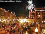 Fireworks over Main St., Park City, Utah