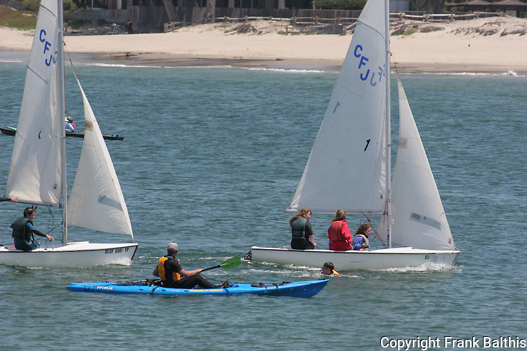 kayaking and sailing in Monterey