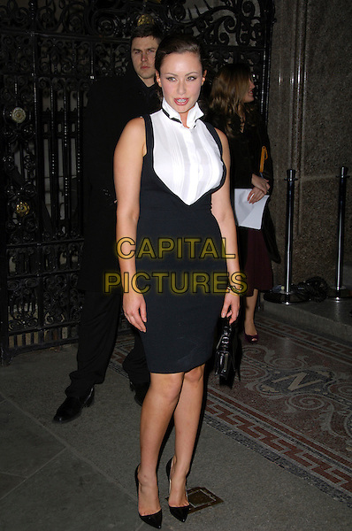 """CAMILLA AL FAYED.VIP private view of """"Vanity Fair Portraits"""" sponsored by Burberry, National Portrait Gallery, London, England. .February 11th, 2008.full length black dress white shirt .CAP/CAS.©Bob Cass/Capital Pictures."""