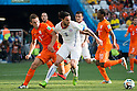 Stefan de Vrij (NED), Mauricio Pinilla (CHI), JUNE 23, 2014 - Football / Soccer : FIFA World Cup Brazil 2014 Group B match between Netherlands 2-0 Chile at Arena de Sao Paulo Stadium in Sao Paulo, Brazil. (Photo by Maurizio Borsari/AFLO)