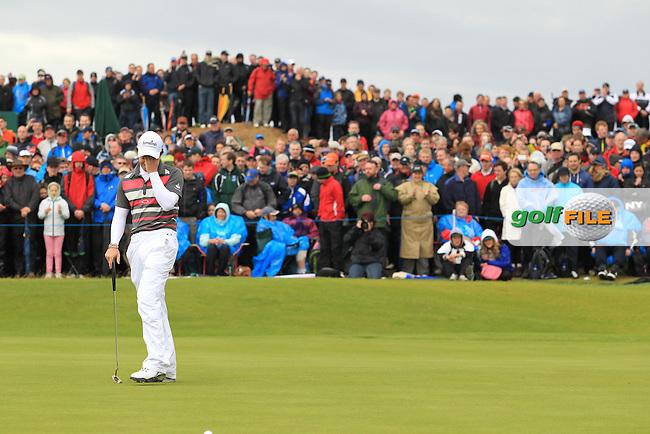 Rory McIlroy (NIR) on the 18th on Day 3 of the 2012 Irish Open at Royal Portrush Golf Club, Portrush, Co.Antrim, 30/6/12...(Photo Jenny Matthews/www.golffile.ie)