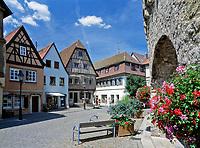 Deutschland, Bayern, Franken, Dettelbach: Marktplatz | Germany, Bavaria, Franconia, village Dettelbach: market square
