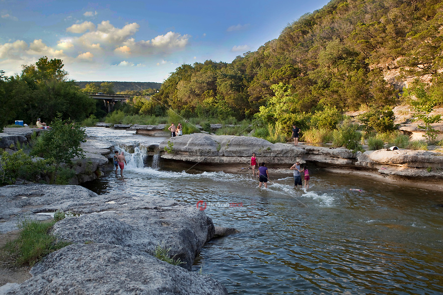 Bull Creek is Austin's most enchanting swimming spots. As you slip into this small but deep blue pool just off of 360 Capital of Texas Highway, surrounded by limestone outcroppings, you might almost forget that you're in the city. There are numerous rock ledges upon which to lie and catch a few rays until you're ready to immerse yourself in the cool water once again.