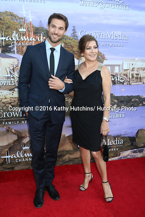LOS ANGELES - JUL 27:  Jack Turner, Marina Sirtis at the Hallmark Summer 2016 TCA Press Tour Event at the Private Estate on July 27, 2016 in Beverly Hills, CA