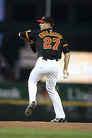 Rochester Red Wings Pitcher Kyle Waldrop (27) during a game vs. the Syracuse Chiefs at Frontier Field in Rochester, NY May 19, 2010.   Syracuse defeated Rochester by the score of .  Photo By Mike Janes/Four Seam Images