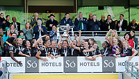 3rd November 2019; Aviva Stadium, Dublin, Leinster, Ireland; FAI Cup Womens Final Football, Peamount United versus Wexford Youth Womens Football Club; Wexford Youths celebrate after being presented with the FAI Womens Cup  - Editorial Use