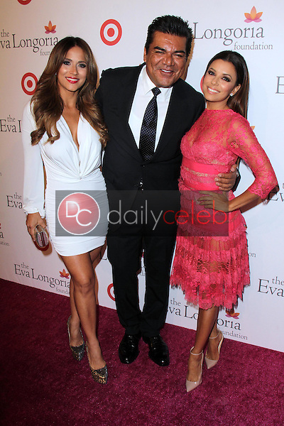 George Lopez and guest with Eva Longoria<br /> at the Eva Longoria Foundation Dinner, Beso, Hollywood, CA 09-29-13<br /> David Edwards/Dailyceleb.com 818-249-4998