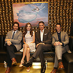 Josh Young, Laura Osnes, Robert Cuccioli and Stephen Cerf attends the Album Launch Party for 'Angels' at the The Gold Bar on October 25, 2017 in New York City.