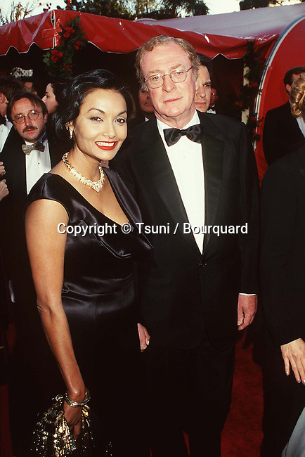 Caine Michael & wife Michele