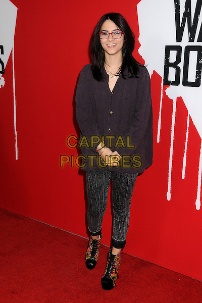 "Fivel Stewart.""Warm Bodies"" Los Angeles Premiere held at the Cinerama Dome, Hollywood, California, USA..January 29th, 2013.full length black shirt oversized glasses pattern trousers ankle boots platform.CAP/ADM/BP.©Byron Purvis/AdMedia/Capital Pictures."