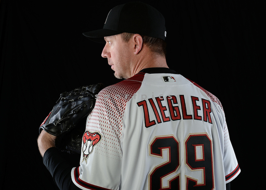 Arizona Diamondbacks Brad Ziegler (29) during photo day on February 28, 2016 in Scottsdale, AZ.