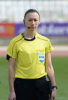 20180302 - LARNACA , CYPRUS : Ukrainian assistant referee Svitlana Grushko pictured during a women's soccer game between Italy and Wales , on friday 2 March 2018 at GSZ Stadium in Larnaca , Cyprus . This is the second game in group A for Italy and Wales during the Cyprus Womens Cup , a prestigious women soccer tournament as a preparation on the World Cup 2019 qualification duels. PHOTO SPORTPIX.BE | DAVID CATRY