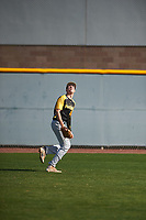 Christopher Broadbent (16) of Sky View High School in Richmond, Utah during the Baseball Factory All-America Pre-Season Tournament, powered by Under Armour, on January 14, 2018 at Sloan Park Complex in Mesa, Arizona.  (Zachary Lucy/Four Seam Images)
