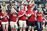 INDIANAPOLIS, IN - MAY 14: Stanford University fans cheer during the Division I Women's Water Polo Championship against UCLA held at the IU Natatorium-IUPUI Campus on May 14, 2017 in Indianapolis, Indiana. (Photo by Joe Robbins/NCAA Photos/NCAA Photos via Getty Images)