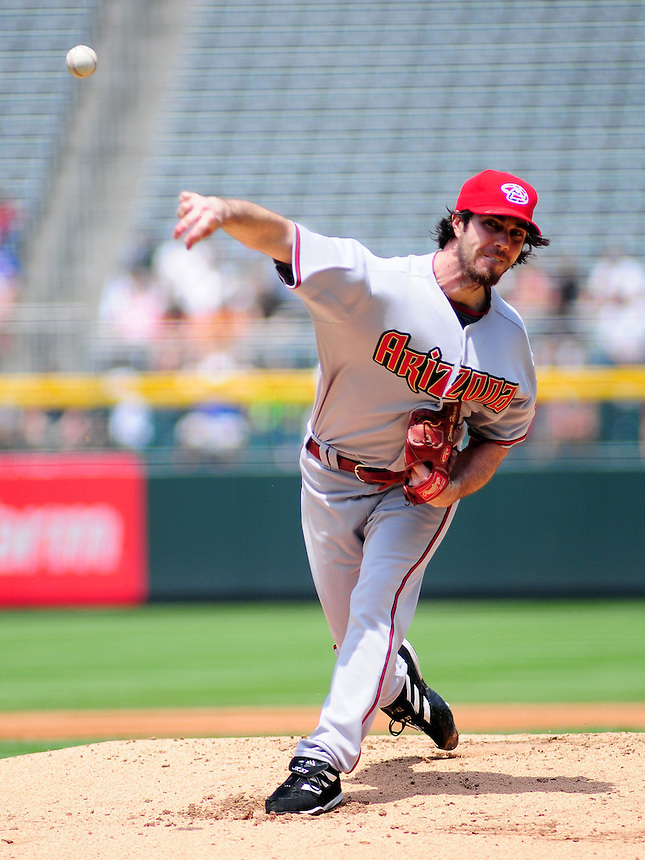 July 5, 2009: Diamondbacks pitcher Dan Haren during a regular season game between the Arizona Diamondbacks and the Colorado Rockies at Coors Field in Denver, Colorado. The Diamondbacks beat the Rockies 4-3.
