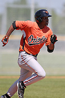 Baltimore Orioles minor league player Mychal Givens #2 during a spring training game vs the Boston Red Sox at the Buck O'Neil Complex in Sarasota, Florida;  March 22, 2011.  Photo By Mike Janes/Four Seam Images