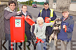 TIDY UP: Pictured beside one of Listowel's new dog waste bins on the John B. Keane Road, l-r: Cllr Jimmy Moloney (Tidy Towns), David O'Brien (Town Clerk), Cllr Jackie Barrett, John Riordan (Litter/Traffic Warden), Paddy Keane.