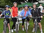 Ciaran Boyle, Barbara Keane, Fiona McCreesh and Lorraine Boyle who took part in the La Tour de Bog annual Ardee cycle. Photo: Colin Bell/pressphotos.ie