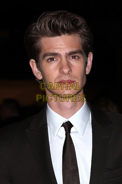 ANDREW GARFIELD.'Never Let Me Go' Opening Gala of the London Film Festival the Odeon, Leicester Square, London, England..October 13th 2010.headshot portrait white shirt black brown suit jacket tie .CAP/ROS.©Steve Ross/Capital Pictures