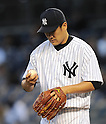 Masahiro Tanaka (Yankees), APRIL 9, 2014 - MLB : New York Yankees starting pitcher Masahiro Tanaka waches a ball during the MLB game between the New York Yankees and the Baltimore Orioles at Yankee Stadium in The Bronx, New York, United States. (Photo by AFLO)