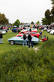 USA, California, San Diego, a few of the cars and spectators who participated in the Mission Bay, Car Show