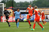 Piscataway, NJ - Saturday July 09, 2016: Cami Privett, Taylor Lytle during a regular season National Women's Soccer League (NWSL) match between Sky Blue FC and the Houston Dash at Yurcak Field.