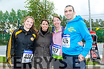 Leanne Hannifin, Sabrina Kerwin, Tina Walsh and David Walsh  at the CBS The Green Fun Run on Sunday afternoon