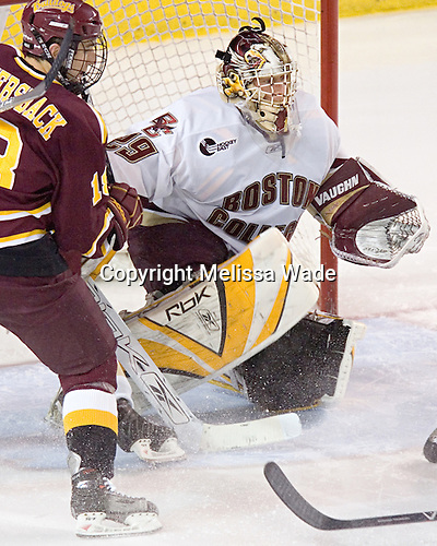 Mark Bomersback, Joe Pearce - The Boston College Eagles and Ferris State Bulldogs tied at 3 in the opening game of the Denver Cup on Friday, December 30, 2005, at Magness Arena in Denver, Colorado.  Boston College won the shootout to determine which team would advance to the Final.