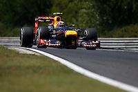BUDAPESTE, 27 JULHO 2012 - F1 GP DA HUNGRIA -  O piloto Mark Webber da equipe Red Bull durante treino para o GP da Hungria que acontece nesse final de semana em Budapeste. (FOTO PIXATHLON / BRAZIL PHOTO PRESS).