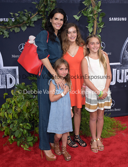 Angie Harmon attends The Universal Pictures World Premiere of Jurassic World held at The Dolby Theatre  in Hollywood, California on June 09,2015                                                                               © 2015 Hollywood Press Agency