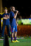 BARCELONA (16/05/2010).- Barcelona players celebrate Spanish League Championship at Camp Nou Stadium. Daniel Alves...Photo. Gregorio / ALFAQUI