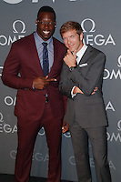 New York, NY - June 10 : Jason Pierre-Paul and Jean-Pascal Perret attend the OMEGA Speedmaster Dark Side<br /> of the Moon Launch Event held at Cedar Lake on June 10, 2014 in<br /> New York City. Photo by Brent N. Clarke / Starlitepics