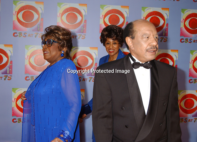 Isabelle Sanford, Marla Gibbs and Sherman Hemsley of the Jeffersons                               ..at CBS's 75th Anniversary at The Hammerstein Ballroom in ..New York City on November 2, 2003. Photo by Robin Platzer, Twin Images
