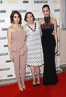 Zosia Mamet, Lena Dunham, Allison Williams arriving for the Girls - UK premiere of the third series held at the Cineworld Haymarket - Arrivals, London. 15/01/2014 Picture by: Henry Harris / Featureflash