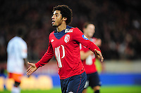 joie de Ryan Mendes (Lille) apres son but .Football Calcio 2012/2013 Ligue 1.Francia.Foto Panoramic / Insidefoto .ITALY ONLY