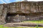Moai Carved In Mountain, Rano Raraku