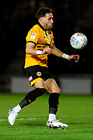 Robbie Willmott of Newport County in action during the Sky Bet League Two Play-off Semi Final: First Leg match between Newport County and Mansfield Town at Rodney Parade in Newport, Wales, UK.  Thursday 09 May 2019