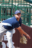 West Michigan Whitecaps pitcher Thomas Collier #29 during practice before a Midwest League game against the South Bend Silver Hawks at Coveleski Stadium on August 15, 2012 in South Bend, Indiana.  West Michigan defeated South bend 7-1.  (Mike Janes/Four Seam Images)