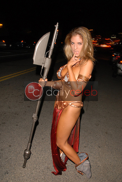 Bridgetta Tomarchio<br /> one of many celebrities wearing a Princess Leia Slave Girl costume from Star Wars at the West Hollywood Halloween Celebration, Various Locations, West Hollywood, CA. 10-31-09<br /> David Edwards/DailyCeleb.com 818-249-4998<br /> EXCLUSIVE
